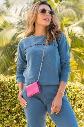 blusa de moletom feminina light is hiatto estonada azul marinho 11f0003 006 3
