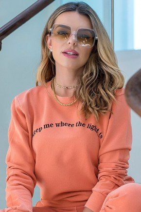 blusa de moletom feminina light is hiatto estonada telha laranja 11f0003 038 3