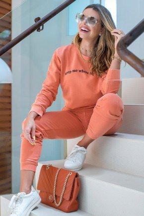 blusa de moletom feminina light is hiatto estonada telha laranja 11f0003 038 4
