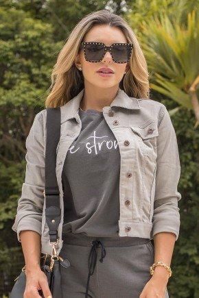 10f0016 jaqueta feminina de veludo super star hiatto cinza 3
