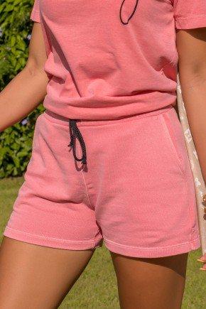 07f005 017 shorts feminino moletinho estonado hiatto rosa conjunto estonado 1