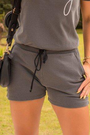 07f005 002 shorts feminino moletinho estonado hiatto preto conjunto estonado 2
