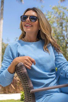 11f0006 003 blusa de moletom feminina basico hiatto estonada azul conjunto estonado