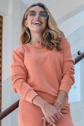 11f0006 038 blusa de moletom feminina basico hiatto estonada telha laranja conjunto estonado 2