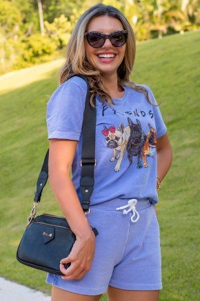 02F0089 054 Camiseta Feminina Hiatto Malha Estonada Friends   Roxo 1 2