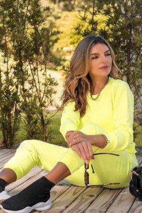11f0007 066 blusa de moletom feminino neon basico amarelo neon 4