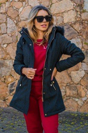 12f0001 002 casaco feminino hiatto nylon peluciado preto 6