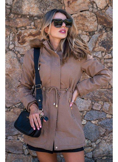 12f0002 09 casaco feminino hiatto sarja marrom 5