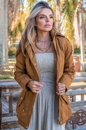 12f0001 14 casaco feminino hiatto nylon peluciado marrom 3