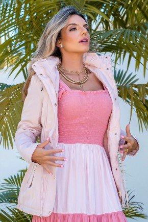 12f0001 14 casaco feminino hiatto nylon peluciado rosa 1