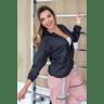 10f0001 02 jaqueta corta vento feminina lisa com capuz impermeavel preto 1