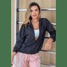 10f0001 02 jaqueta corta vento feminina lisa com capuz impermeavel preto 3