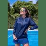10f0001 06 jaqueta corta vento feminina lisa com capuz impermeavel azul marinho 1