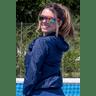 10f0001 06 jaqueta corta vento feminina lisa com capuz impermeavel azul marinho 6