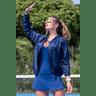 10f0001 06 jaqueta corta vento feminina lisa com capuz impermeavel azul marinho 8