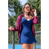 10f0001 11 jaqueta corta vento feminina lisa com capuz impermeavel bordo 3
