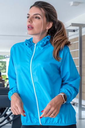 10f0001 03 jaqueta corta vento feminina lisa com capuz impermeavel azul claro 3