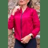 10f0001 04 jaqueta corta vento feminina lisa com capuz impermeavel vermelha 1