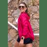 10f0001 04 jaqueta corta vento feminina lisa com capuz impermeavel vermelha 2