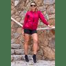 10f0001 04 jaqueta corta vento feminina lisa com capuz impermeavel vermelha 3