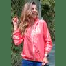 10f0001 014 jaqueta corta vento feminina lisa com capuz impermeavel rosa 1