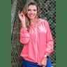 10f0001 014 jaqueta corta vento feminina lisa com capuz impermeavel rosa 2