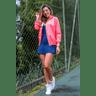10f0001 014 jaqueta corta vento feminina lisa com capuz impermeavel rosa 3