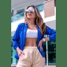 10f0001 57 jaqueta corta vento feminina lisa com capuz impermeavel azul bic 1
