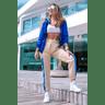 10f0001 57 jaqueta corta vento feminina lisa com capuz impermeavel azul bic 3