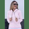 11f0030 blusa moletom peluciada com capuz feminina hiatto basica rosa