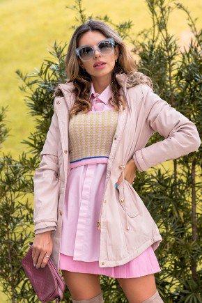 12f0002 casaco feminino hiatto sarja rosa 1