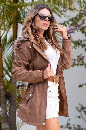 12f0002 casaco feminino hiatto sarja marrom 1