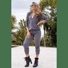 15f0003 037 conjunto de plush feminino calca jogger jaqueta com capuz e bolso grafite 4