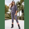 15f0003 037 conjunto de plush feminino calca jogger jaqueta com capuz e bolso grafite 1