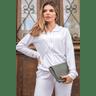 15f0004 01 conjunto de plush feminino calca jogger jaqueta com capuz e bolso branco 4