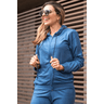 15f0004 06 conjunto de plush feminino calca jogger jaqueta com capuz e bolso marinho 3