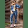 15f0004 06 conjunto de plush feminino calca jogger jaqueta com capuz e bolso marinho 1