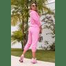 15f0004 14 conjunto de plush feminino calca jogger jaqueta com capuz e bolso rosa 4