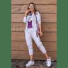 15f0004 54 conjunto de plush feminino calca jogger jaqueta com capuz e bolso lilas 4