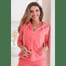 15f0004 060 conjunto de plush feminino calca jogger jaqueta com capuz e bolso laranja 3