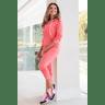 15f0004 060 conjunto de plush feminino calca jogger jaqueta com capuz e bolso laranja 1