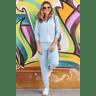 15f0004 56 conjunto de plush feminino calca jogger jaqueta com capuz e bolso azul claro 1