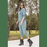 15f0004 conjunto de plush feminino calca jogger jaqueta com capuz e bolso verde musgo 3