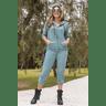 15f0004 conjunto de plush feminino calca jogger jaqueta com capuz e bolso verde musgo 2