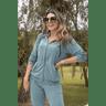 15f0004 conjunto de plush feminino calca jogger jaqueta com capuz e bolso verde musgo 1