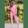 15f1009 conjunto blusa de moletinho feminino neon basico calca feminina jogger hiatto moletinho neon rosa 1