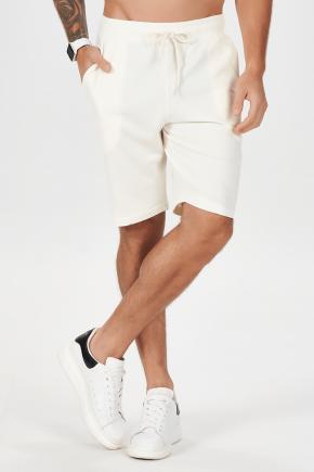 06m0035 bermuda masculina moletom tradicional off white 1