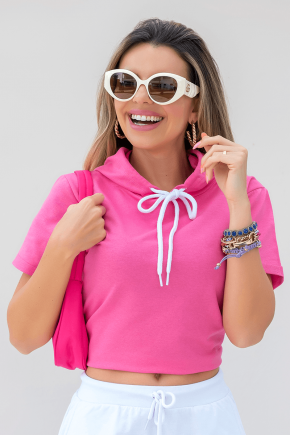 11f0040 blusa de moletinho lisa com capuz rosa 10