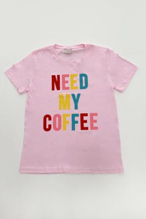 02f0109 camiseta feminina need my coffee hiatto rosa claro