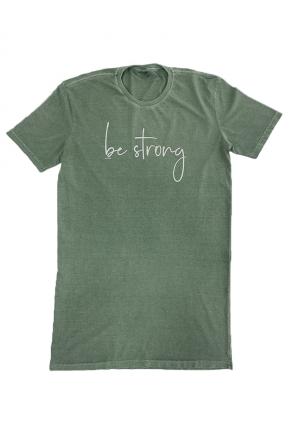 18f0024 vestido t shirt estonado be strong hiatto verde musgo 3